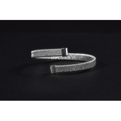 Bransoleta stal 316L ze srebrem