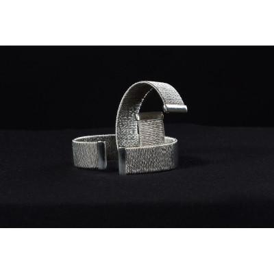 Bransoleta ze stali 316 L ze srebrem BSI001