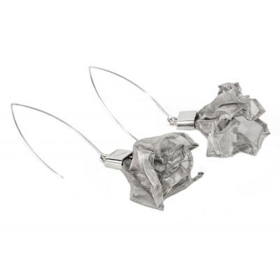 Kolczyki z siatki stalowej KSSrb001
